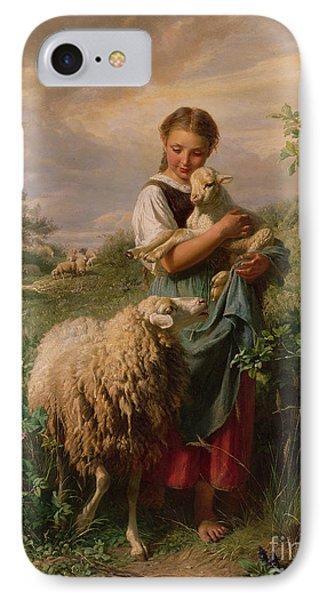 The iPhone 7 Case - The Shepherdess by Johann Baptist Hofner