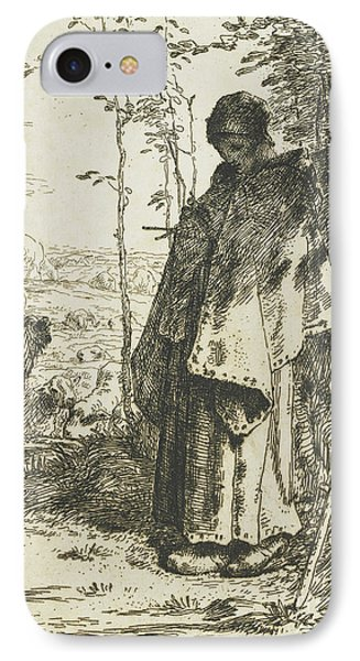 The Shepherdess Knitting, 1862 IPhone Case