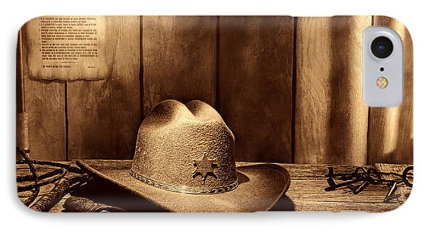 The Sheriff Office IPhone Case by American West Legend By Olivier Le Queinec