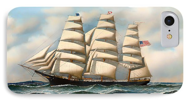 The Ship 'young American' At Sea IPhone Case by Mountain Dreams