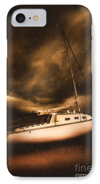 The Shipwreck And The Storm IPhone Case by Jorgo Photography - Wall Art Gallery