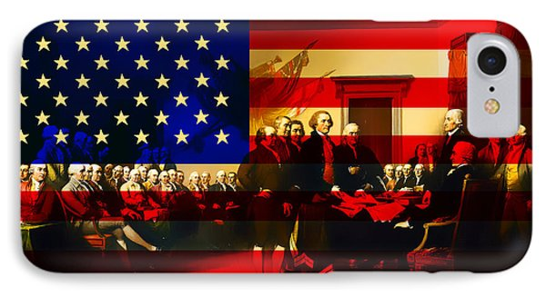 The Signing Of The United States Declaration Of Independence And IPhone Case by Home Decor