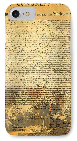 The Signing Of The United States Declaration Of Independence IPhone Case by Home Decor