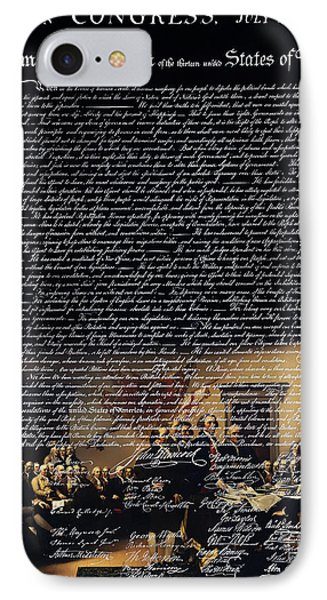 The Signing Of The United States Declaration Of Independence V2 IPhone Case by Home Decor