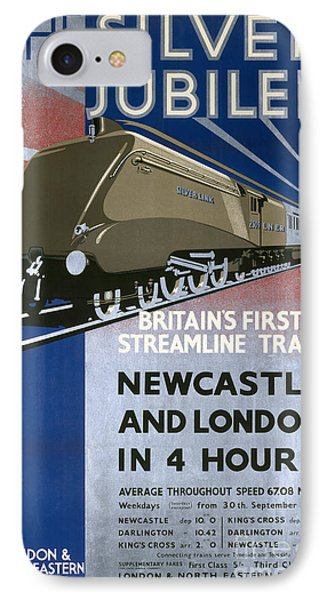The Silver Jubilee Britains First Streamline Train Lner Poster 1935 IPhone Case