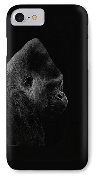 The Silverback Gorilla Bw IPhone Case by Ernie Echols