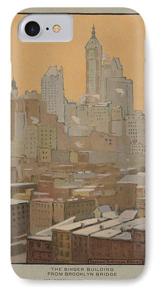The Singer Building From Brooklyn Bridge IPhone Case