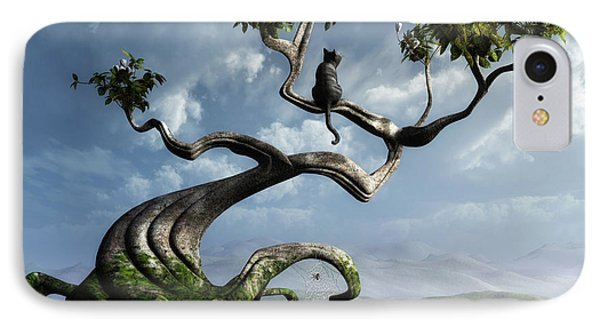 The Sitting Tree Phone Case by Cynthia Decker