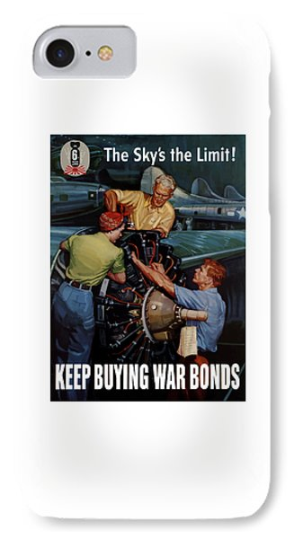 The Sky's The Limit - Ww2 IPhone Case by War Is Hell Store
