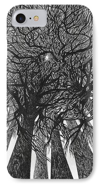 IPhone Case featuring the drawing The Skyscrapers Of The Forest by Anna  Duyunova