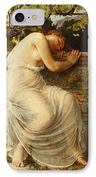 The Sleeping Girl IPhone Case by Edith Ridley Corbet
