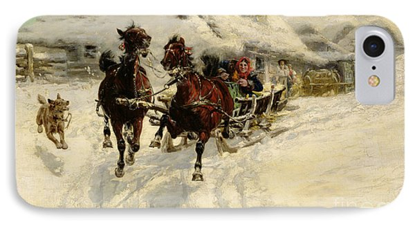 The Sleigh Ride IPhone Case by JFJ Vesin