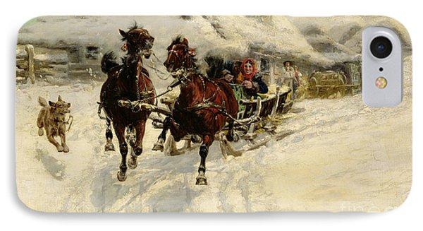 The Sleigh Ride IPhone Case by JFJ Vesin