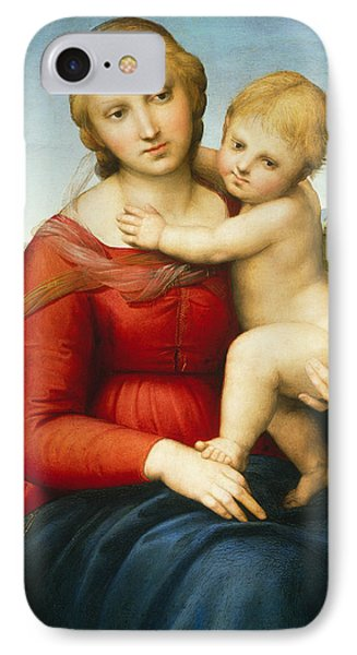 The Small Cowper Madonna IPhone Case by Raphael