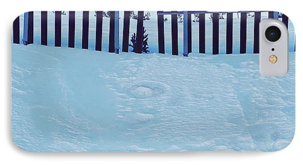 The Snow Fence IPhone Case by Contemporary Art