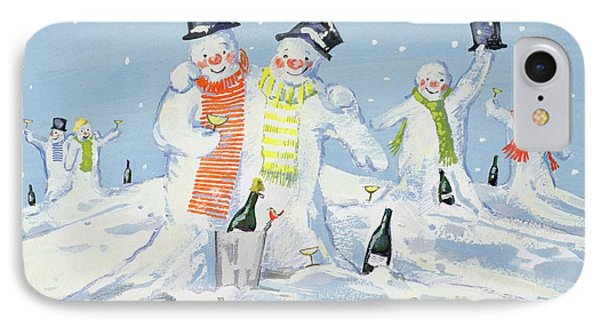 The Snowmen's Party IPhone Case by David Cooke