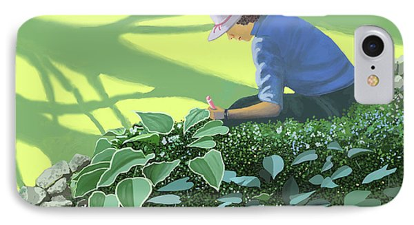 The Solace Of The Shade Garden IPhone Case by Gary Giacomelli