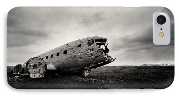 Airplane iPhone 7 Case - The Solheimsandur Plane Wreck by Tor-Ivar Naess