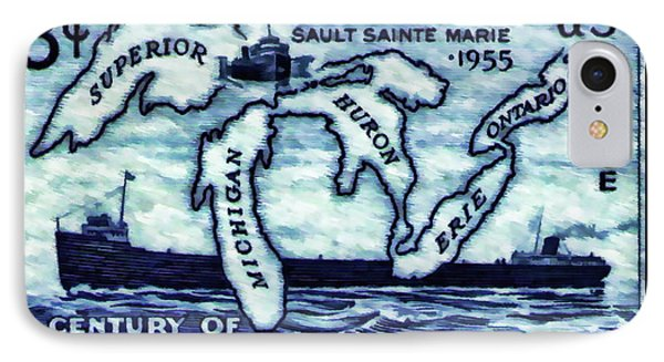 The Soo Locks Stamp IPhone Case by Lanjee Chee
