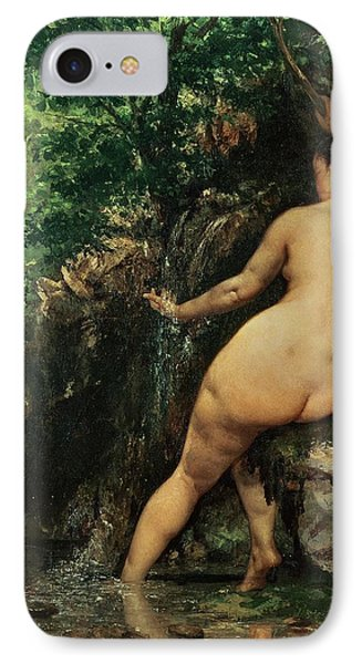The Source Or Bather At The Source IPhone Case by Gustave Courbet
