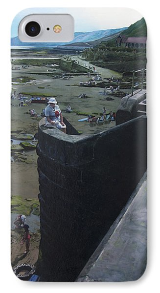 IPhone Case featuring the painting The South Bay In Scarborough. by Harry Robertson