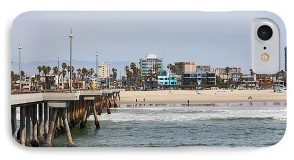 The South View Venice Beach Pier IPhone 7 Case by Ana V Ramirez