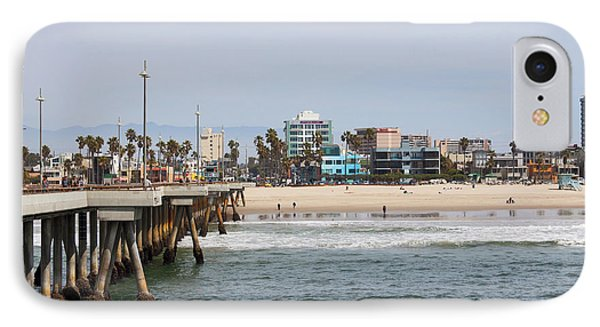 The South View Venice Beach Pier IPhone Case by Ana V Ramirez