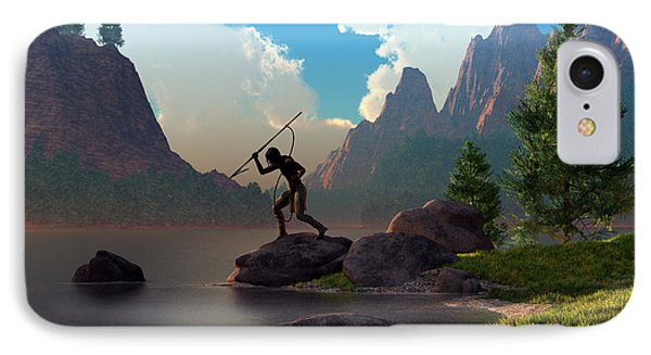IPhone Case featuring the digital art The Spear Fisher by Daniel Eskridge