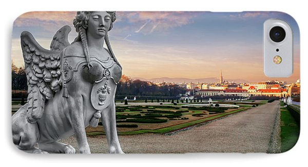 The Sphinx Of The Belvedere Vienna  IPhone Case by Carol Japp