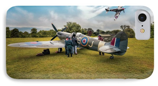 The Spitfire Parade IPhone Case by Adrian Evans