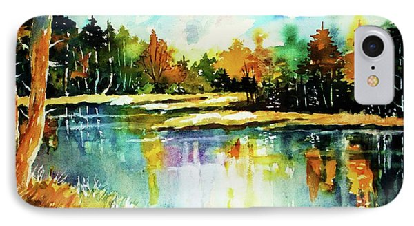 The Splendor And  Color Of Autumn IPhone Case by Al Brown