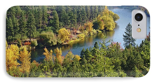 IPhone Case featuring the photograph The Spokane River  by Ben Upham III