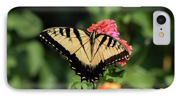 The Spread Eastern Tiger Swallowtail Butterfly Art IPhone Case by Reid Callaway