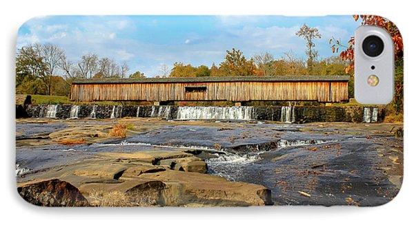 The Square Dance Venue Watson Mill Covered Bridge IPhone Case