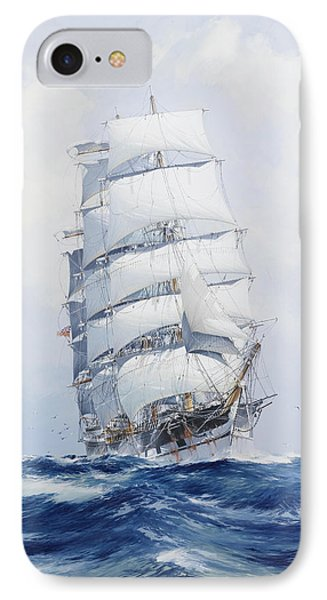 The Square-rigged Clipper Argonaut Under Full Sail IPhone Case by Mountain Dreams