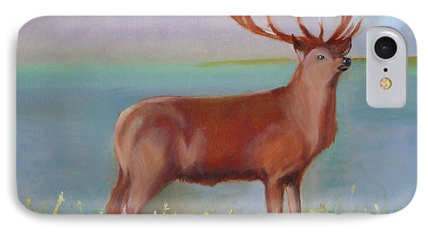 IPhone Case featuring the painting The Stag by Rod Jellison