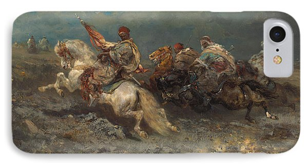 The Stampede IPhone Case by Adolf Schreyer