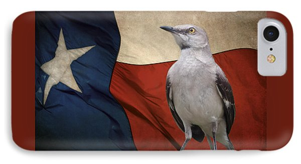 Mockingbird iPhone 7 Case - The State Bird Of Texas by David and Carol Kelly