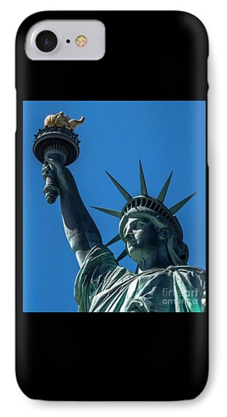 The Statue Of Liberty IPhone Case by James Aiken