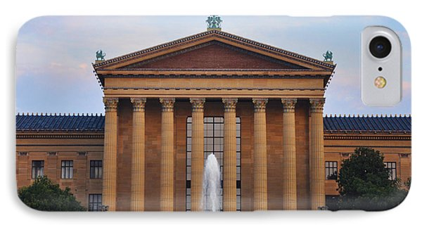The Steps Of The Philadelphia Museum Of Art Phone Case by Bill Cannon