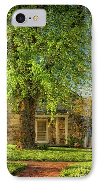 IPhone Case featuring the photograph The Stone Cottage On A Spring Evening by Lois Bryan
