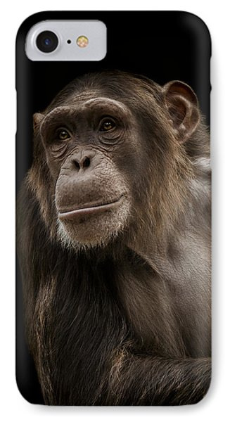 Chimpanzee iPhone 7 Case - The Storyteller by Paul Neville