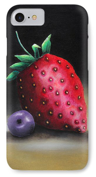 The Strawberry And The Blueberry IPhone Case by Nirdesha Munasinghe