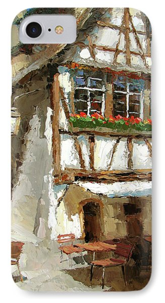 IPhone Case featuring the painting The Streets Of Strasbourg by Dmitry Spiros