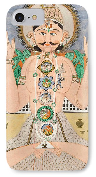 The Subtle Body And The Chakras IPhone Case by Indian School