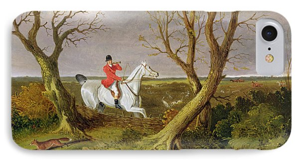 The Suffolk Hunt - Gone Away IPhone Case by John Frederick Herring Snr