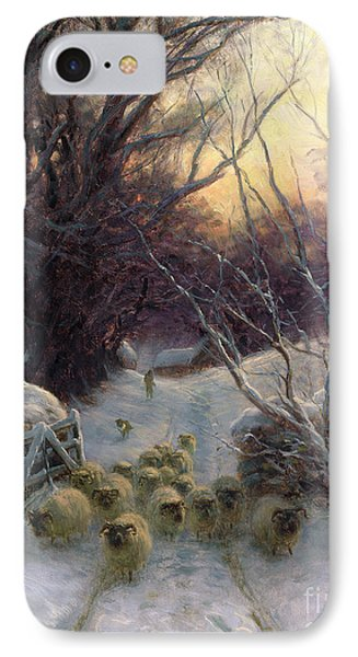 The Sun Had Closed The Winter Day IPhone Case by Joseph Farquharson