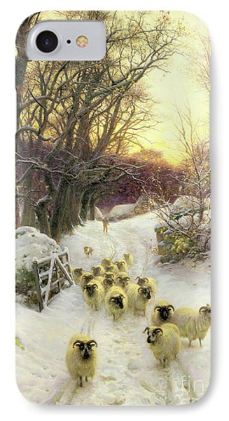 The Sun Had Closed The Winter's Day  IPhone Case by Joseph Farquharson