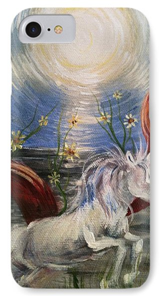 IPhone Case featuring the painting the Sun by Karen  Ferrand Carroll