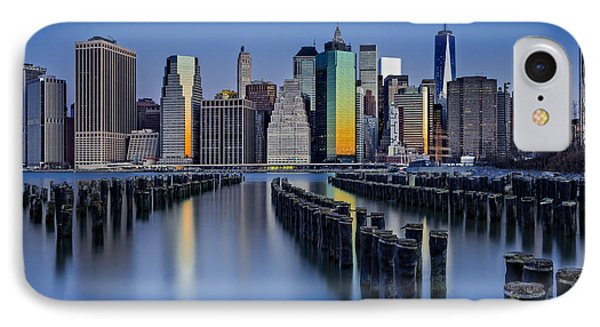 The Sun Rises At The New York City Skyline IPhone Case